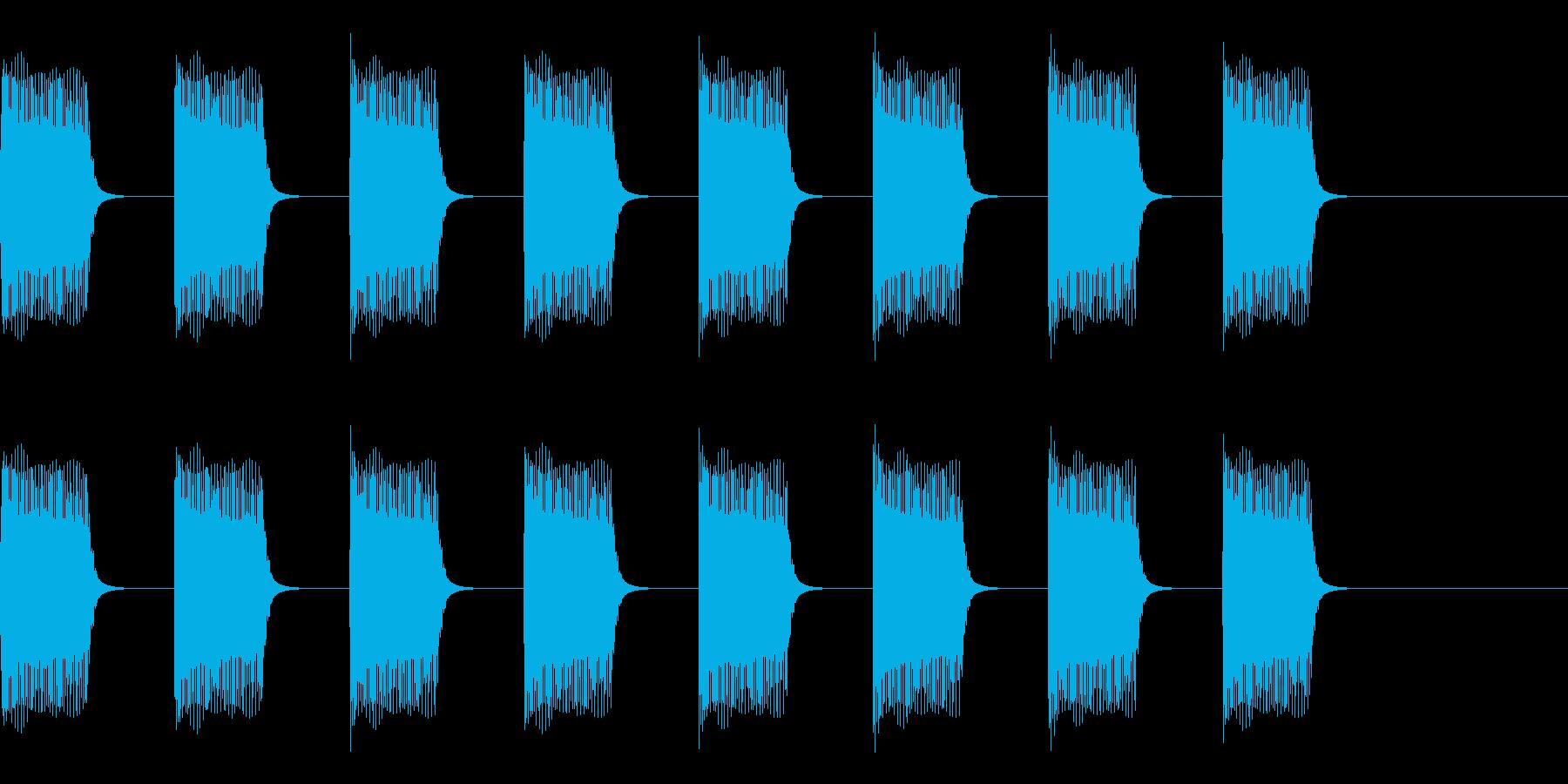 ブーブーブー…ブザー・アラーム音の再生済みの波形