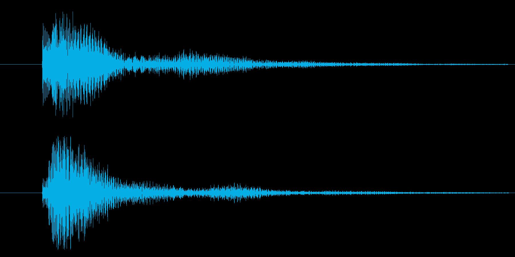 ボタンを押した時の決定やクリック音ですの再生済みの波形