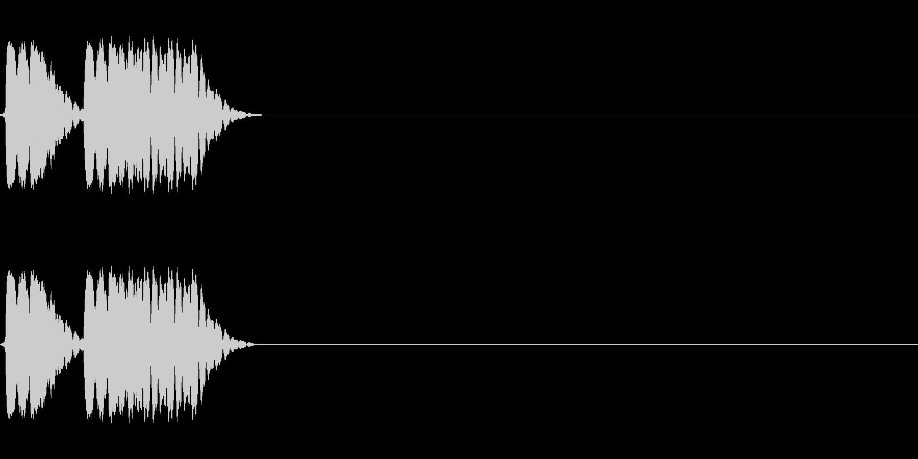 試合中に吹かれた笛の未再生の波形