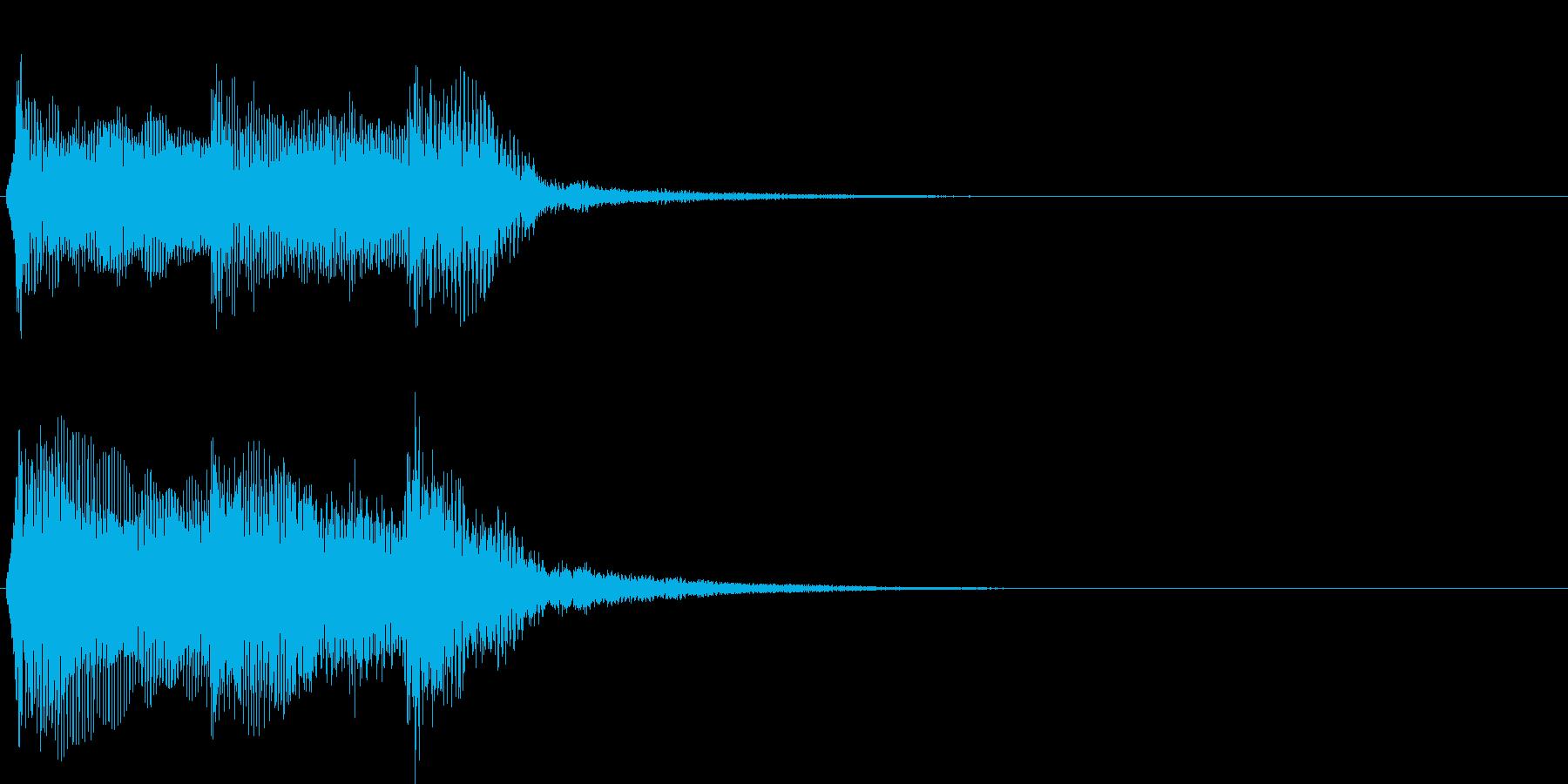 アイドルをイメージしたジングル 2小節Bの再生済みの波形