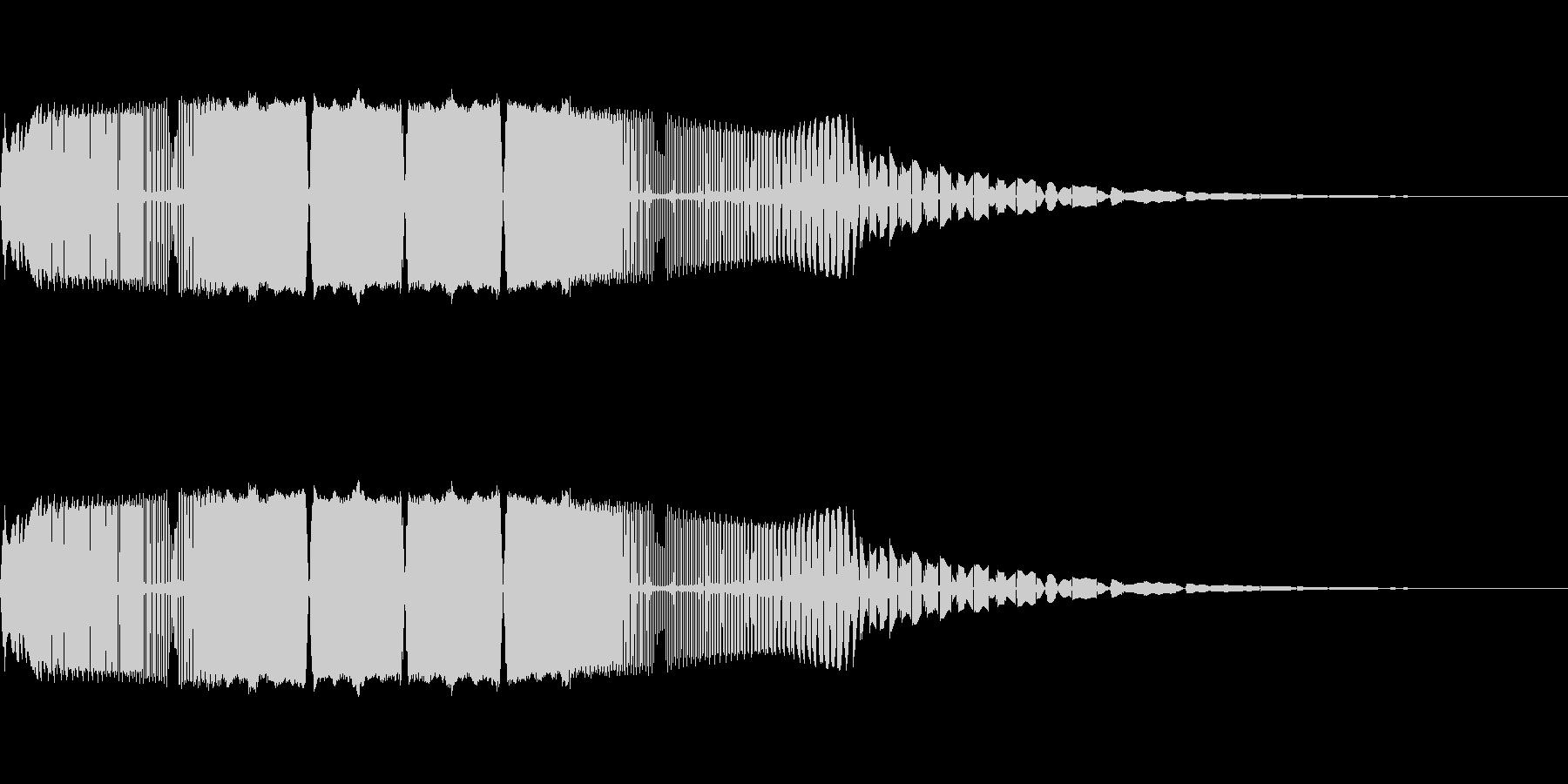 レトロゲームにありそうな上昇音の未再生の波形