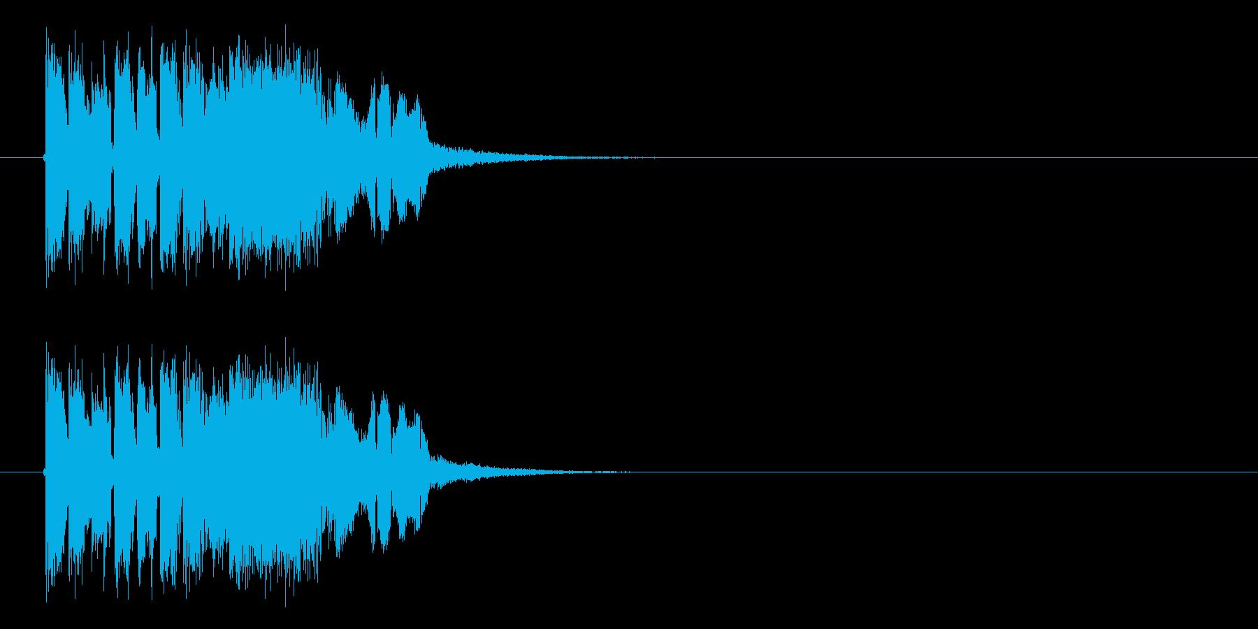 ニュース番組が今から始まるようなシンセ曲の再生済みの波形