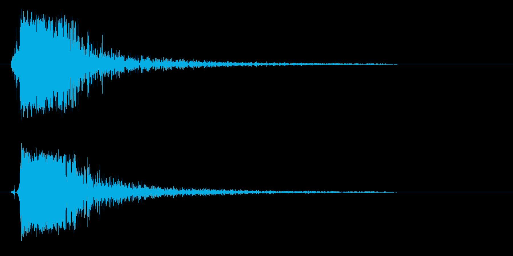 パンッ (乾いた衝撃音)の再生済みの波形