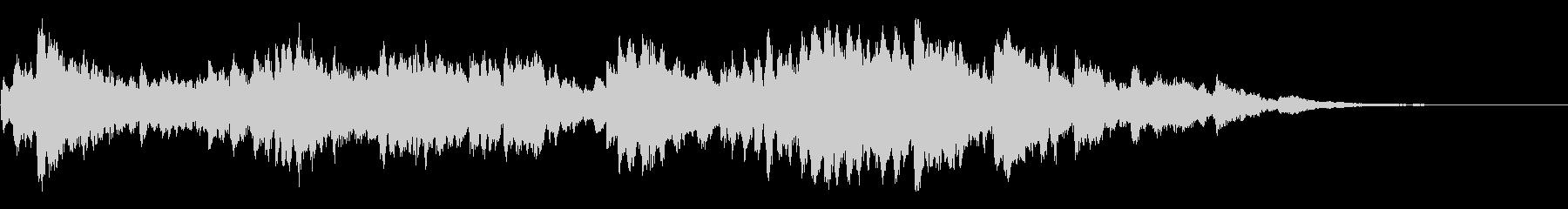 怪しい雰囲気のオルゴール曲の未再生の波形