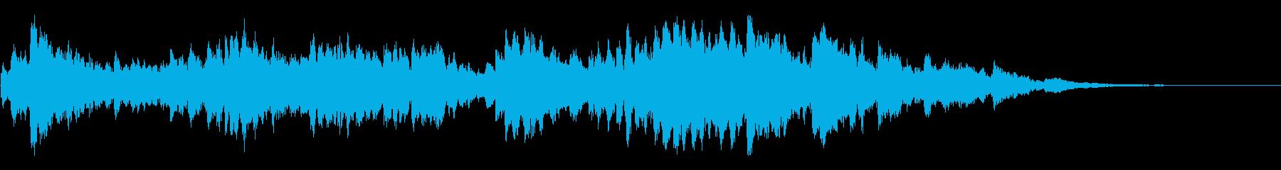 怪しい雰囲気のオルゴール曲の再生済みの波形