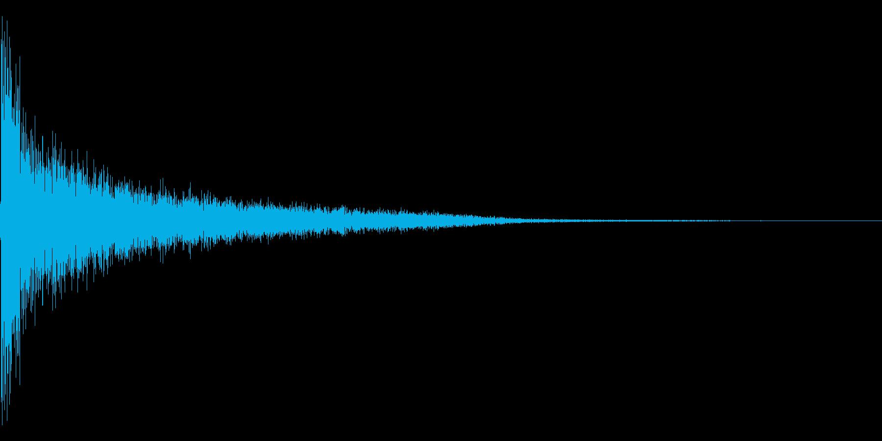 ピショーン。思い出す・睨む音(低)の再生済みの波形