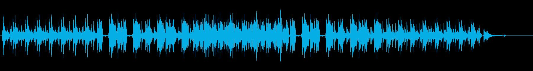 疾走感のあるJAZZの再生済みの波形
