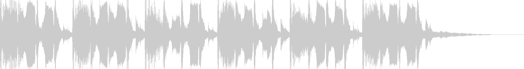 ゆったりとしたテクノ風BGMの未再生の波形