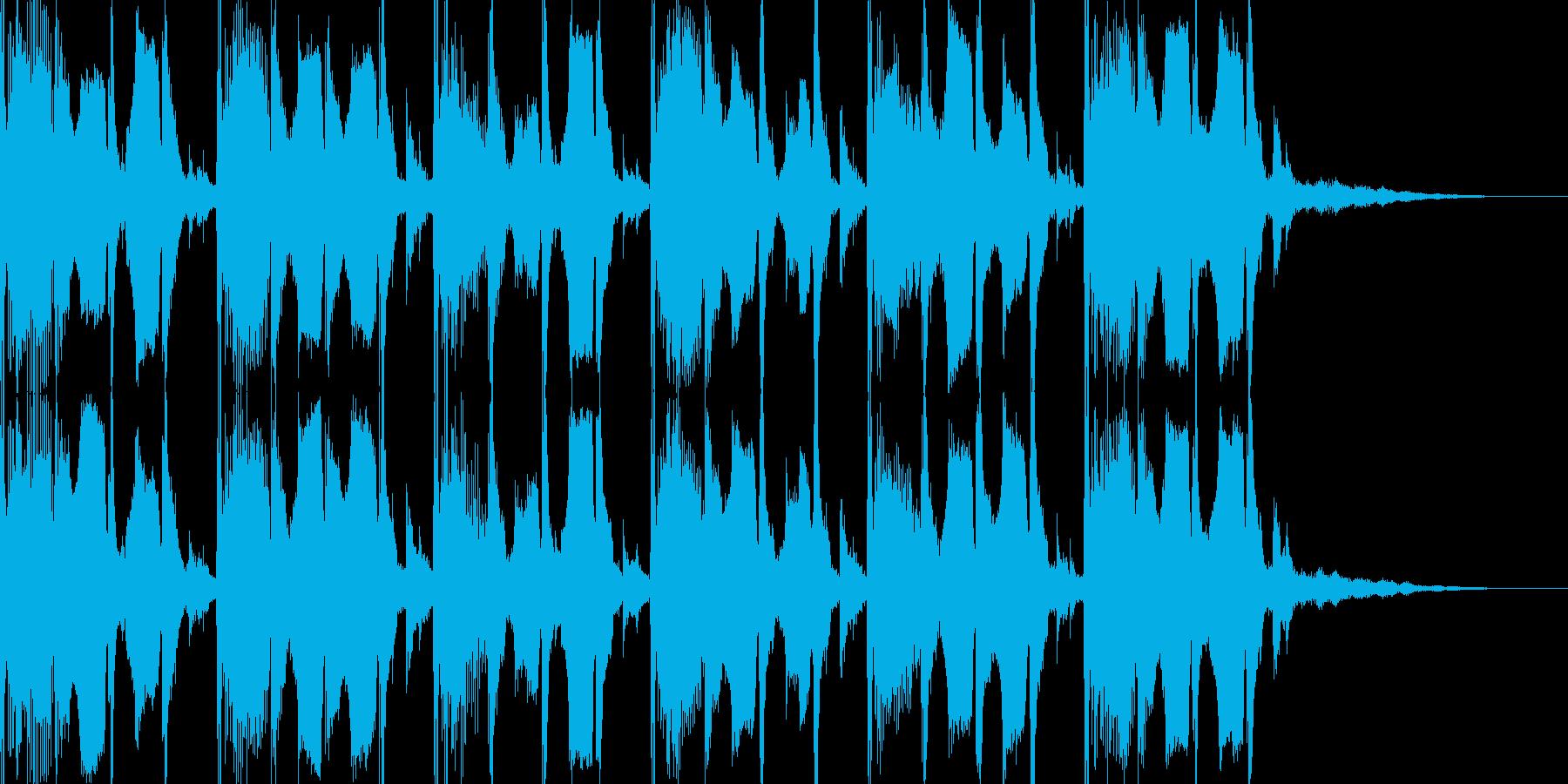 ゆったりとしたテクノ風BGMの再生済みの波形