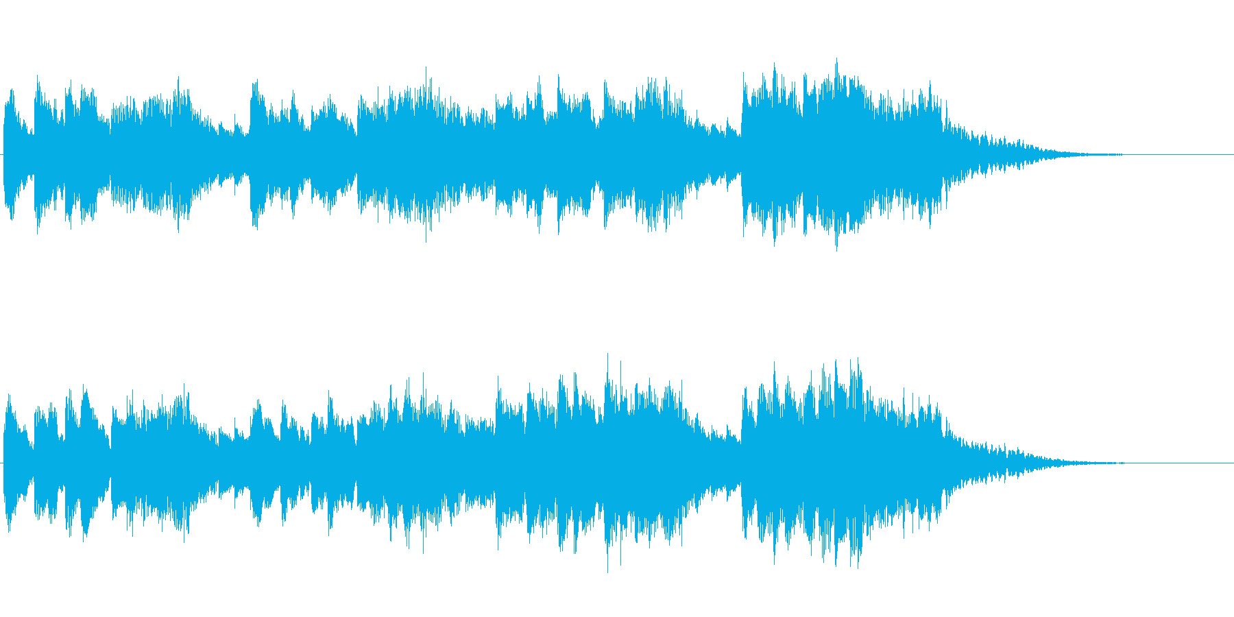 陽気なジングルの再生済みの波形