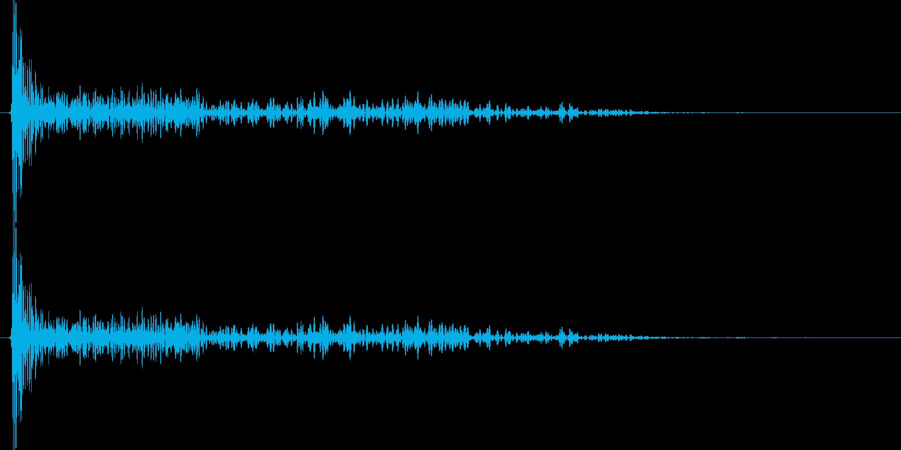 ドーン!(レトロな大砲)の再生済みの波形