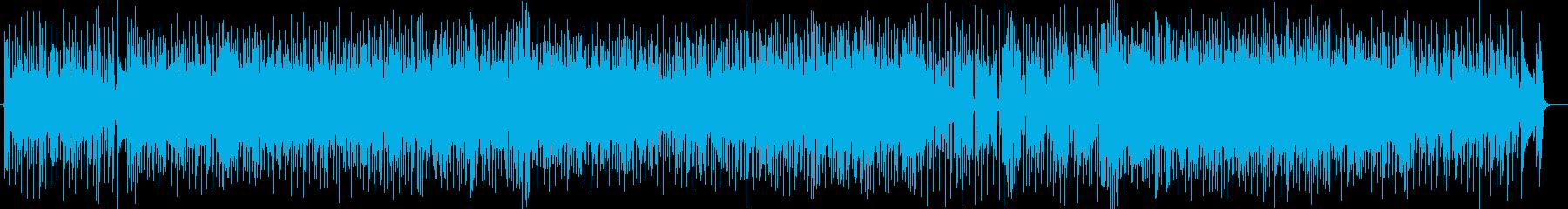 エレキギターの伴奏リフがかっこいいロックの再生済みの波形