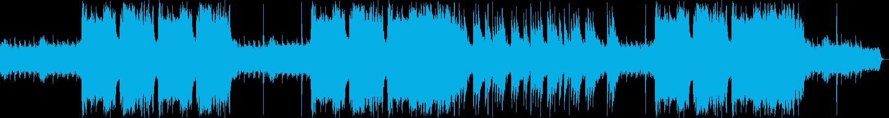 ファンタジーなシンセサイザー・鈴などの曲の再生済みの波形