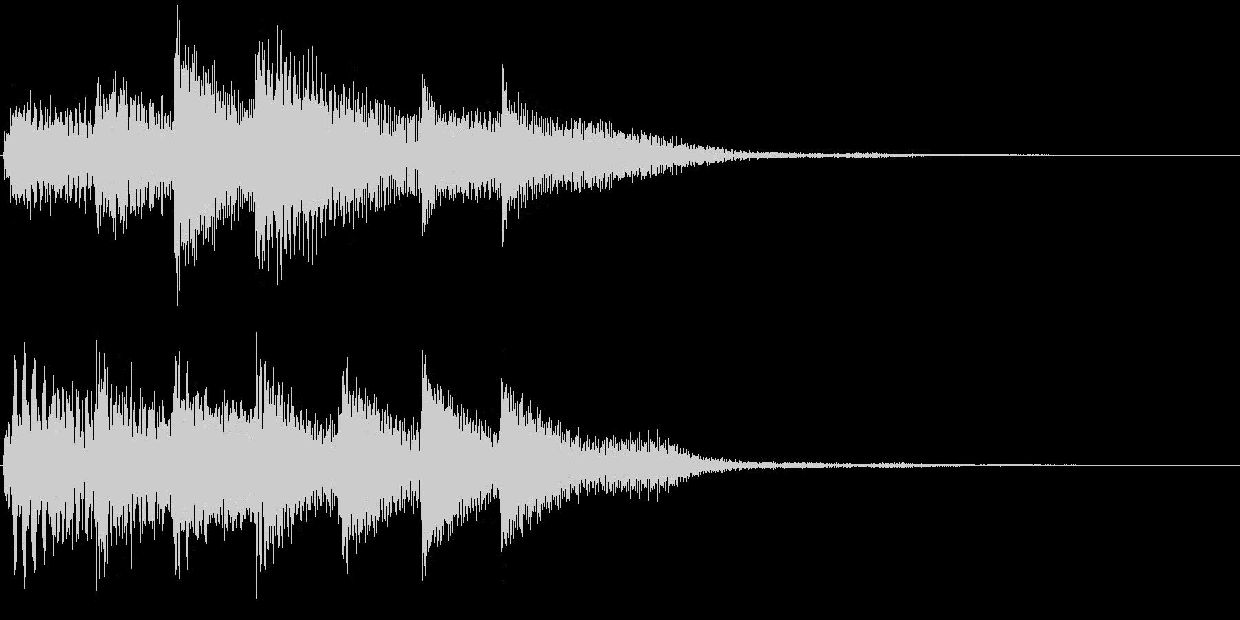 ピアノ転回音11・サウンドロゴの未再生の波形
