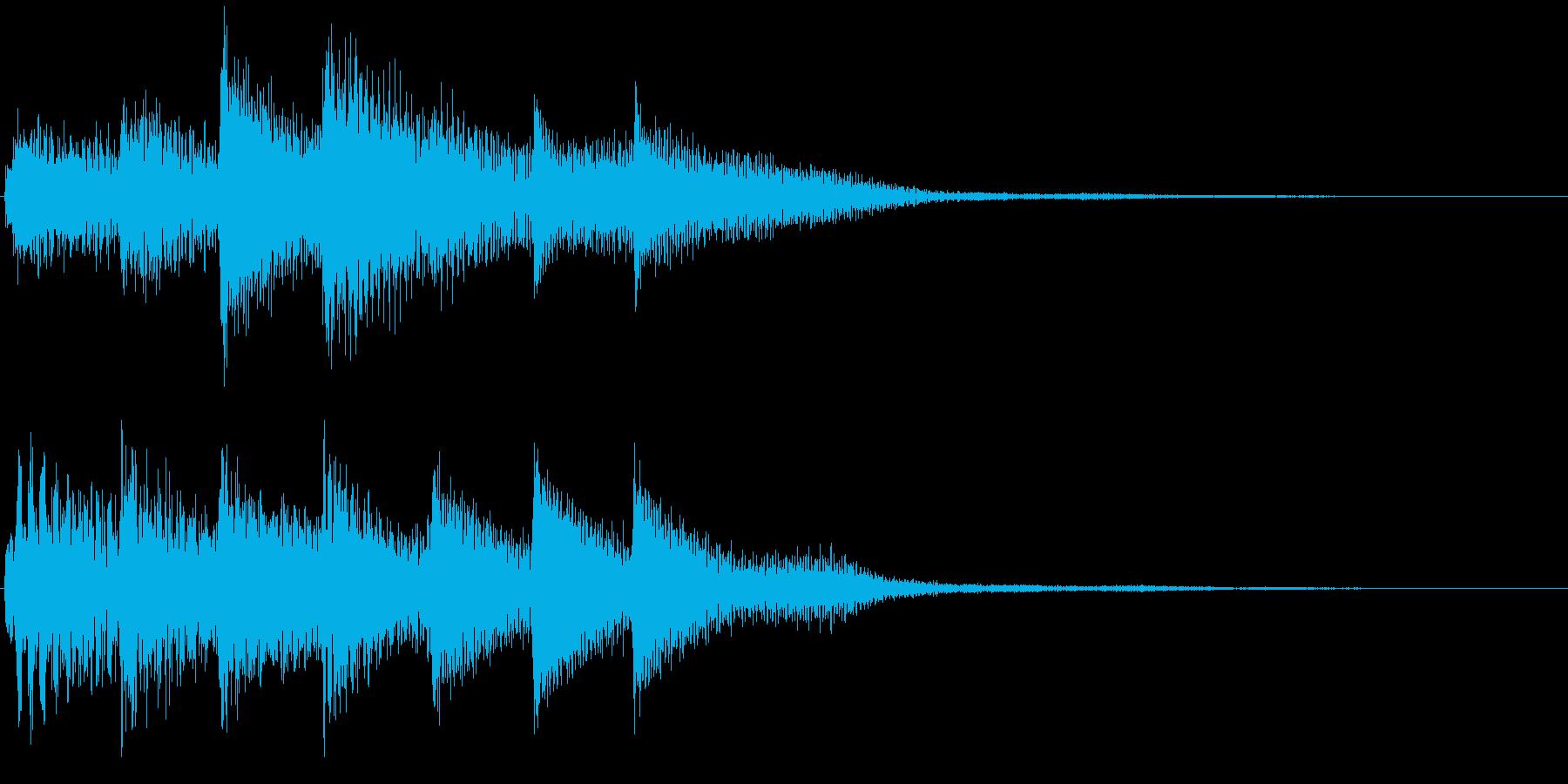 ピアノ転回音11・サウンドロゴの再生済みの波形