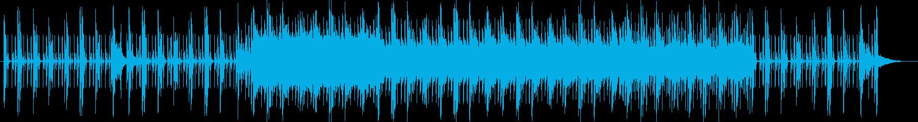 オシャレな雰囲気のリズミカルな曲の再生済みの波形