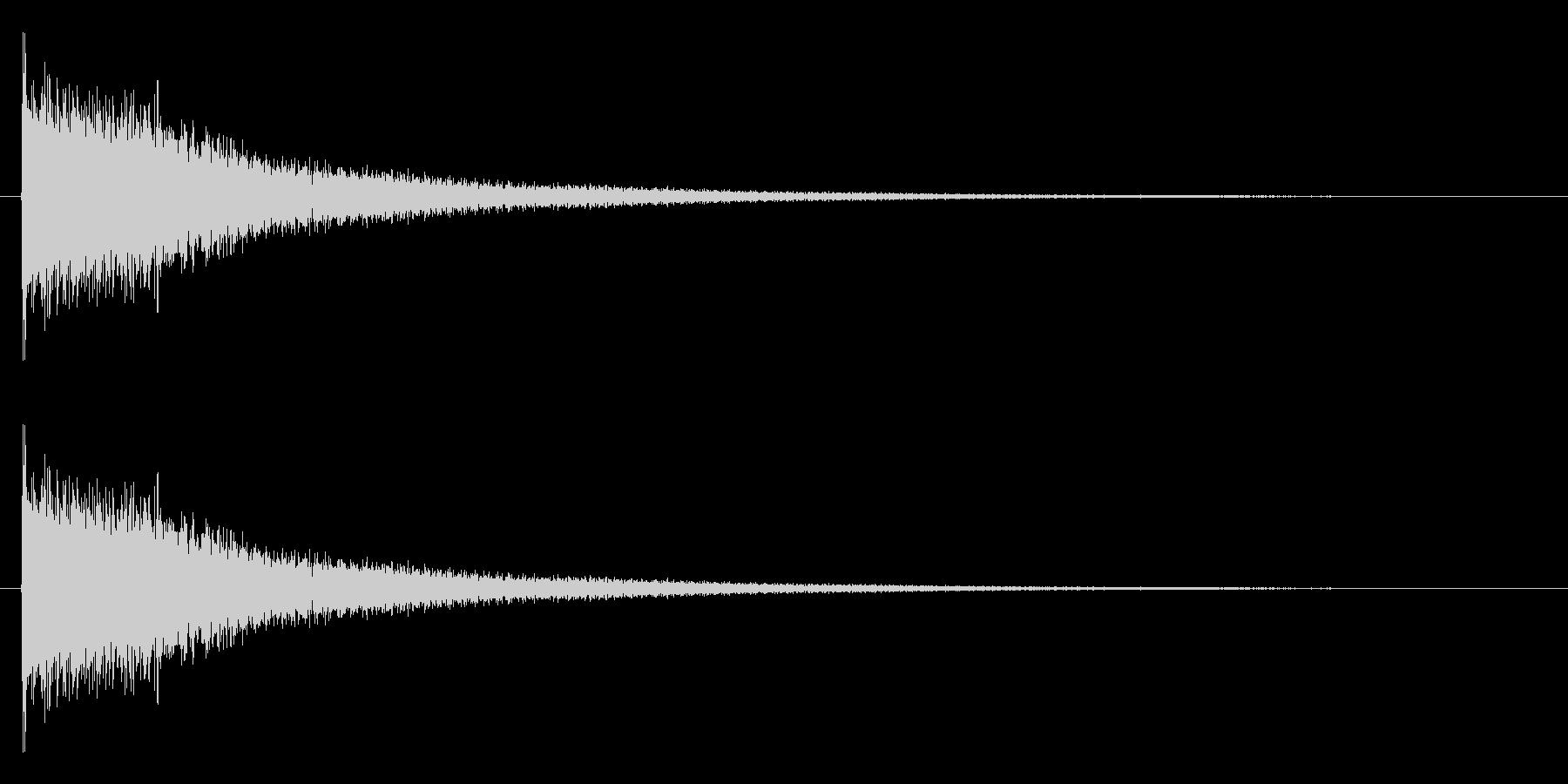 ジャーン(ピアノを適当に叩いた音の未再生の波形