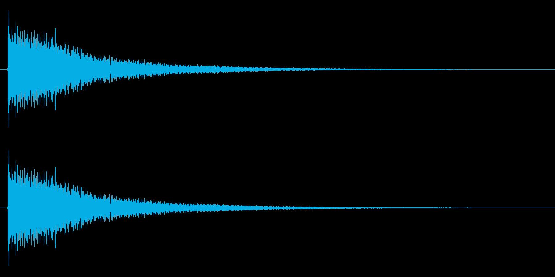 ジャーン(ピアノを適当に叩いた音の再生済みの波形