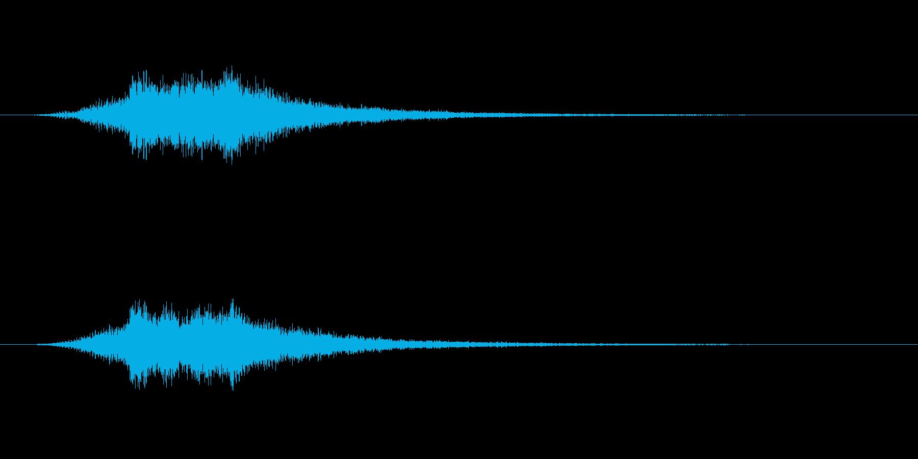 柔らかなパソコンの起動音のような音の再生済みの波形