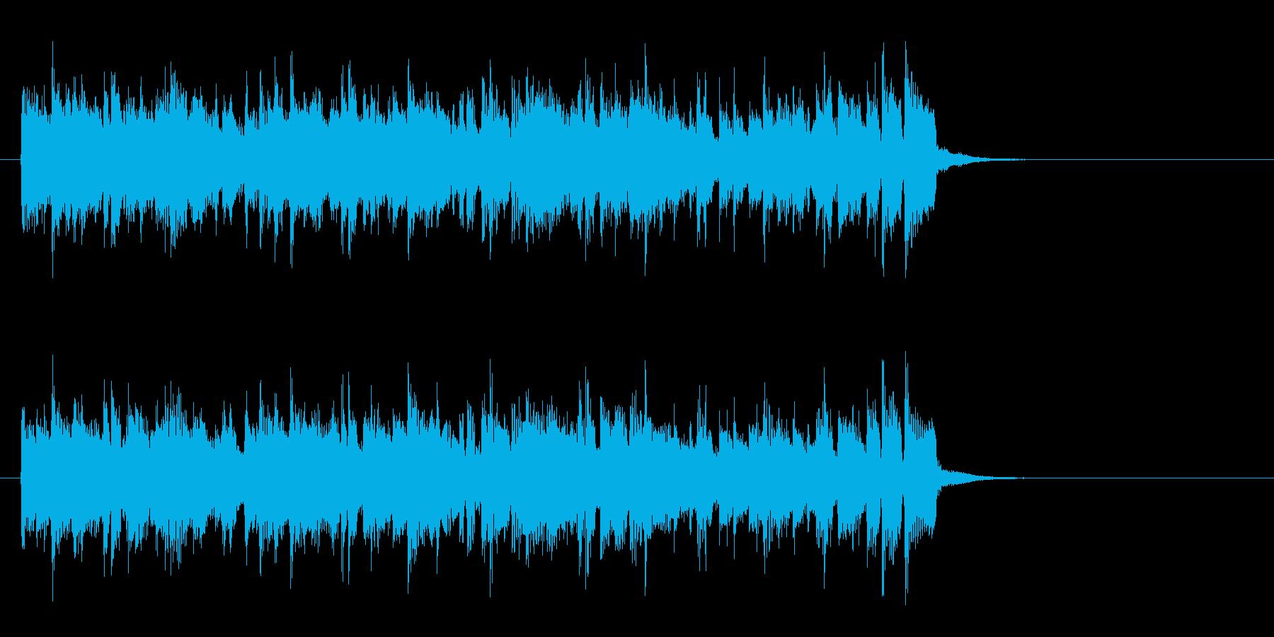 軽快なポップフュージョン(サビ)の再生済みの波形