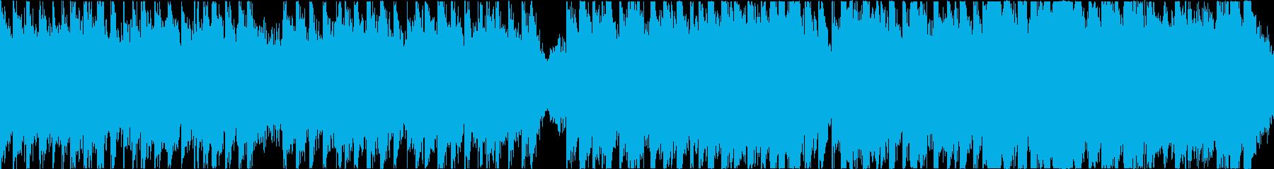 序盤バトル系の軽快なオーケストラ/ループの再生済みの波形