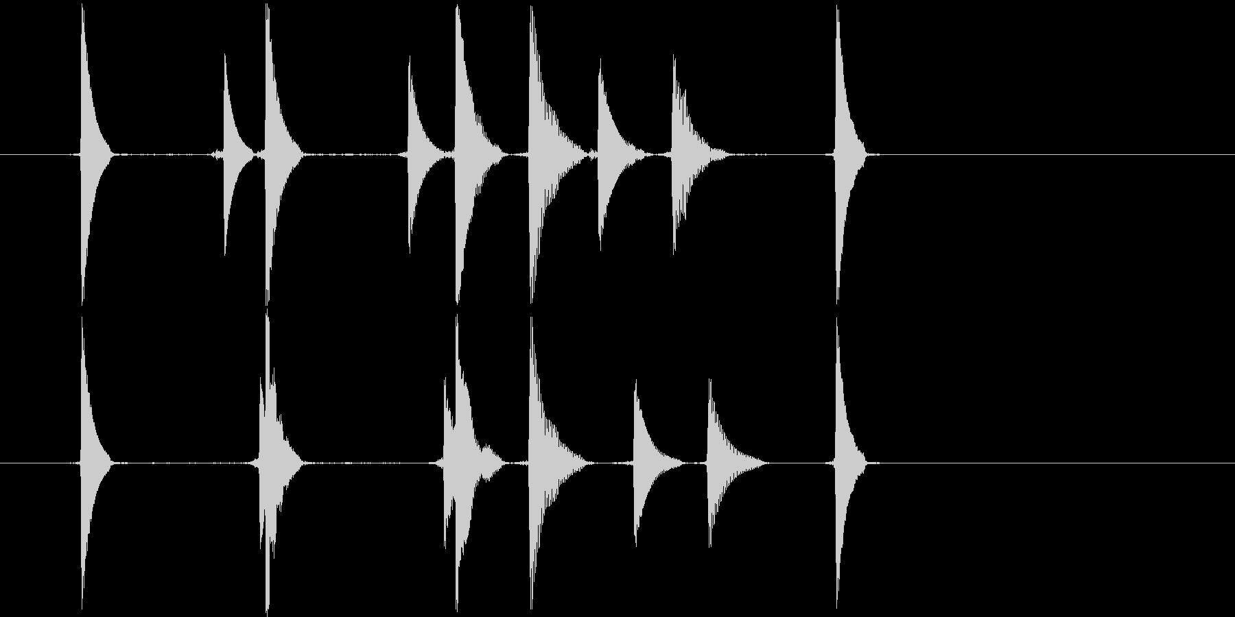 リセット音2(コココキョ)の未再生の波形