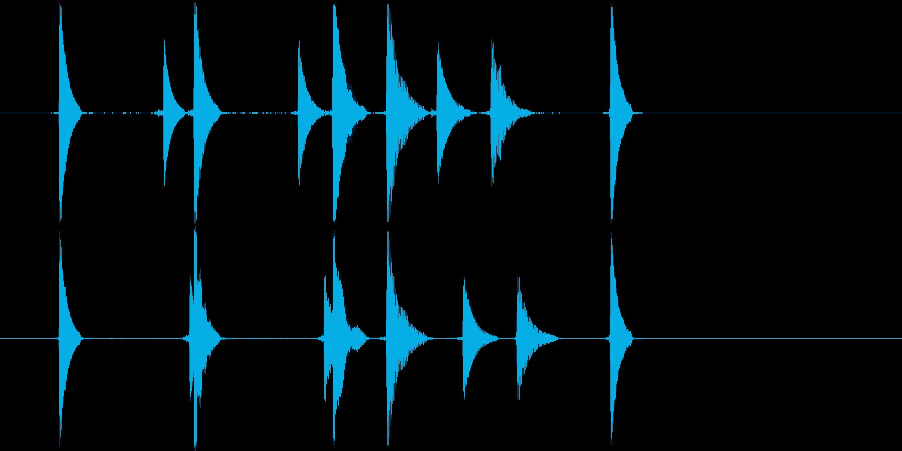 リセット音2(コココキョ)の再生済みの波形