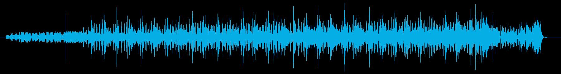 明るく前向きなテクノポップ劇伴の再生済みの波形