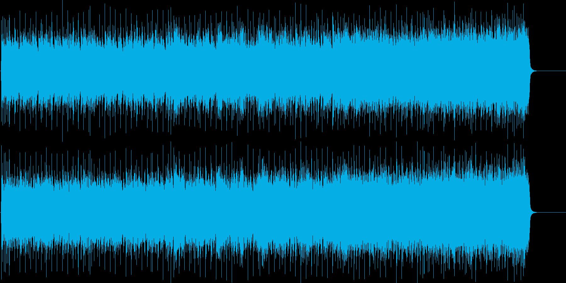 ハードなギターが熱いマイナーロックの再生済みの波形