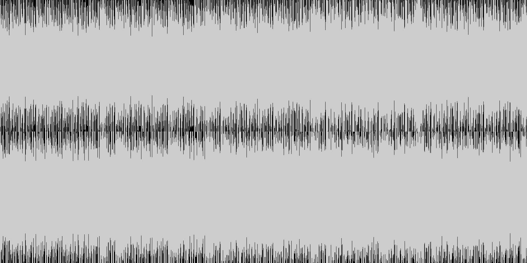 雰囲気のあるヒップホップループバージョンの未再生の波形