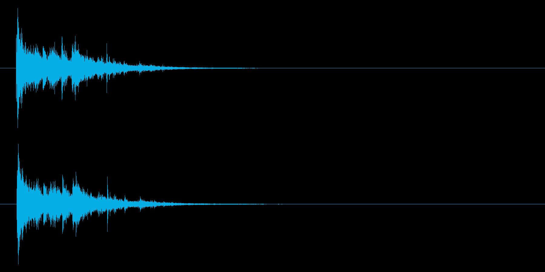 ガシャーン」粉々にガラスの割れる音+FXの再生済みの波形