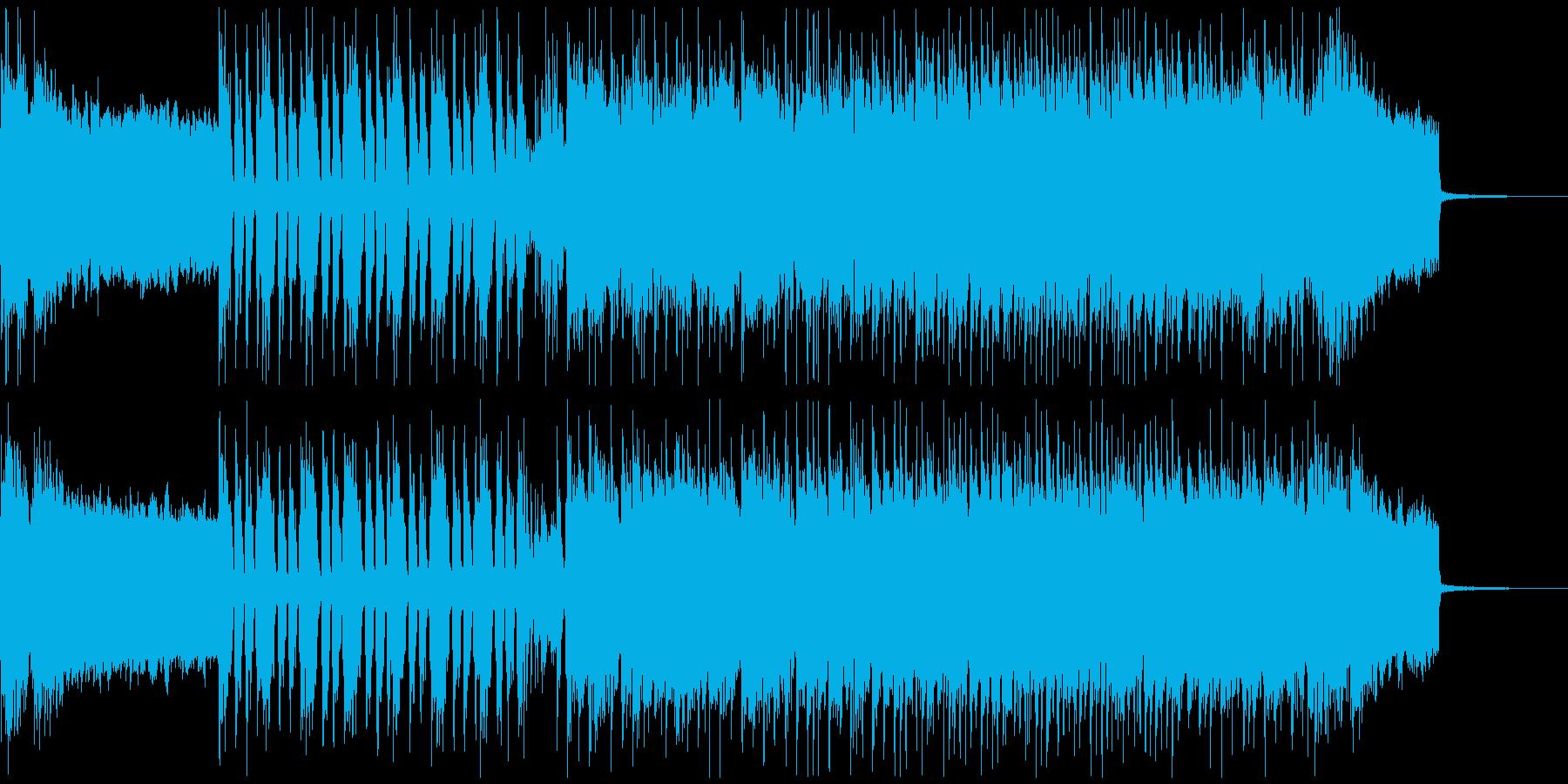 ギターのリフが印象的なインストの再生済みの波形