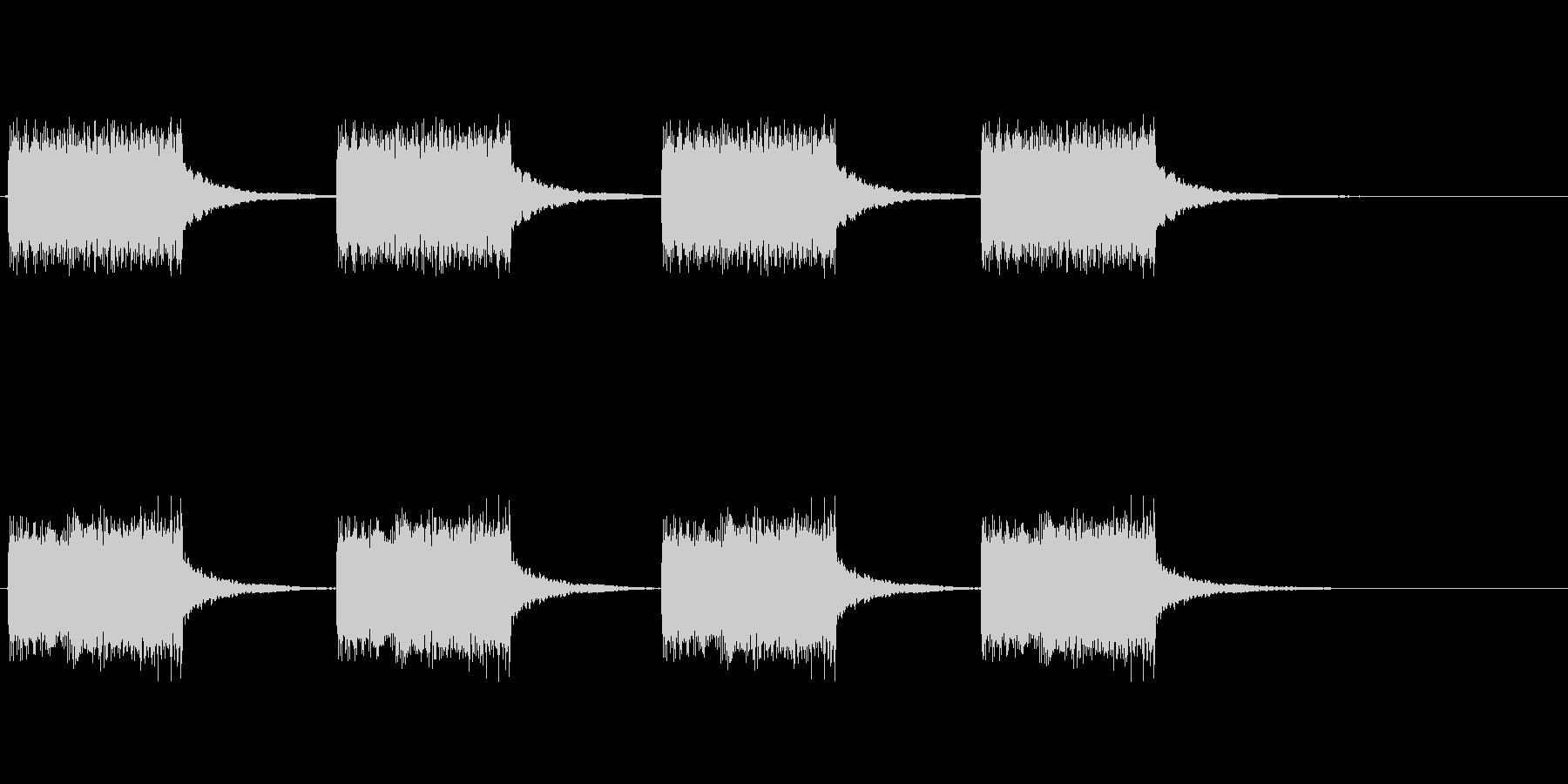 エラー音や警告音の未再生の波形
