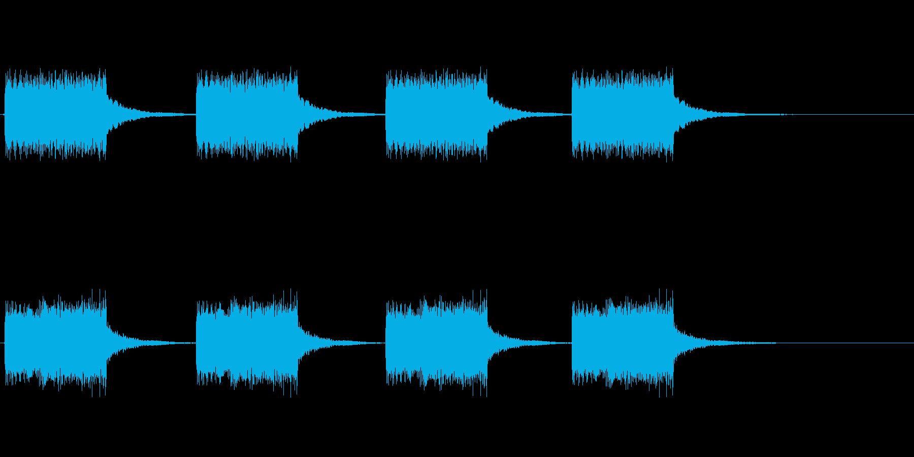 エラー音や警告音の再生済みの波形