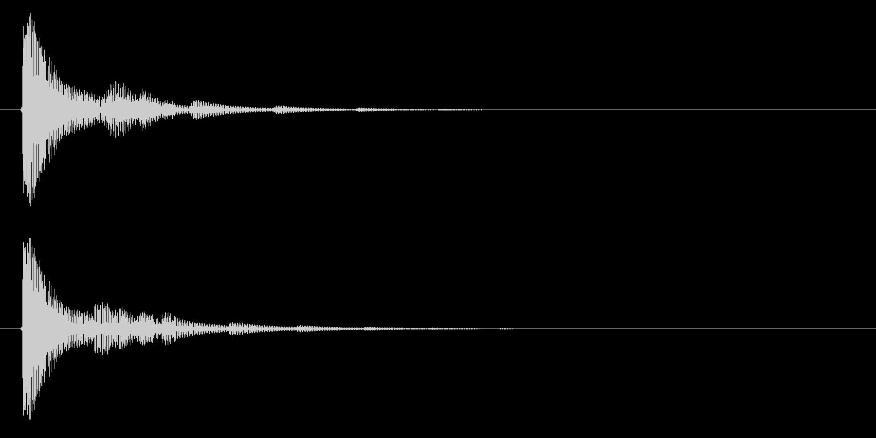 決定音3の未再生の波形
