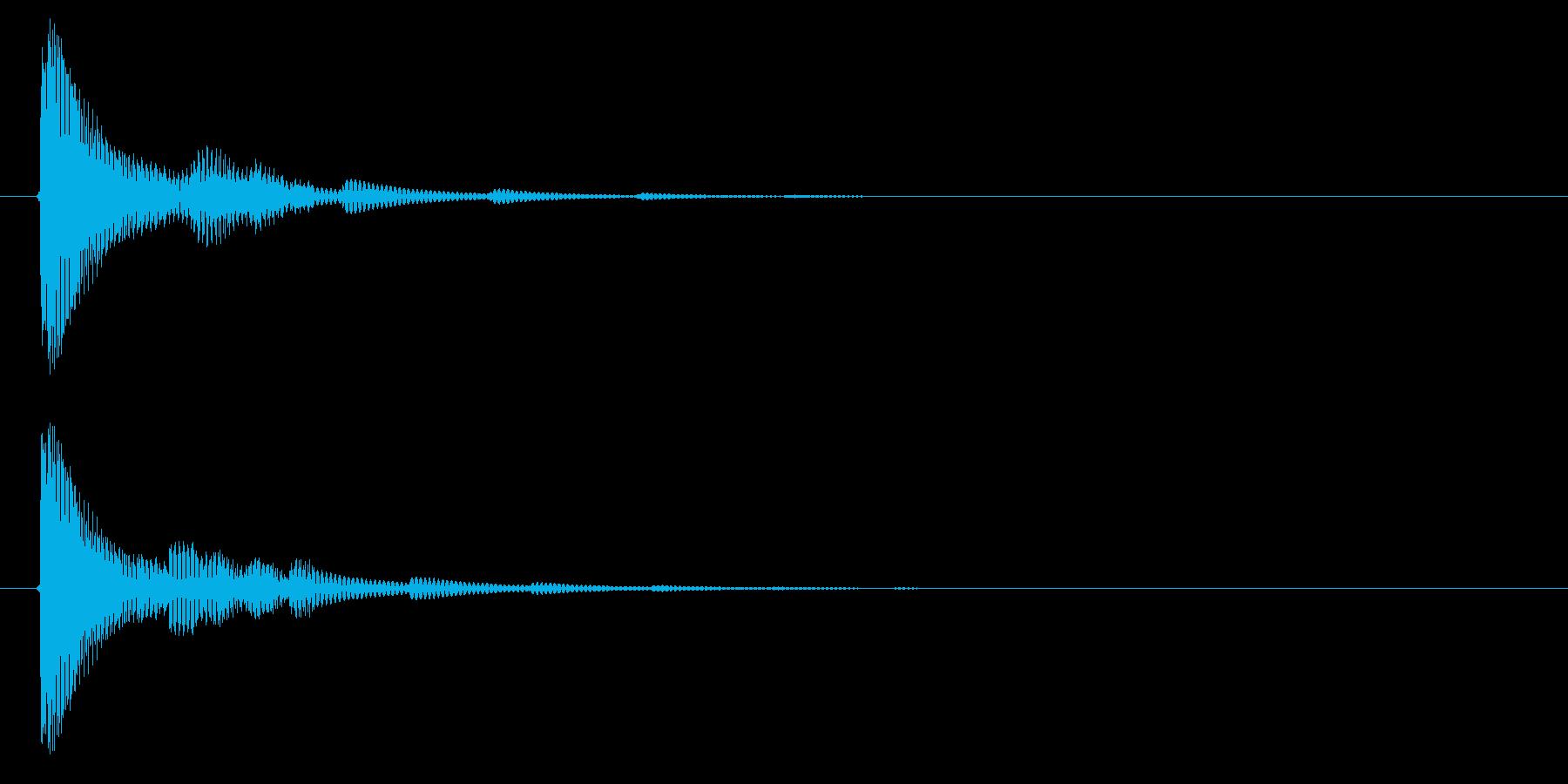 決定音3の再生済みの波形