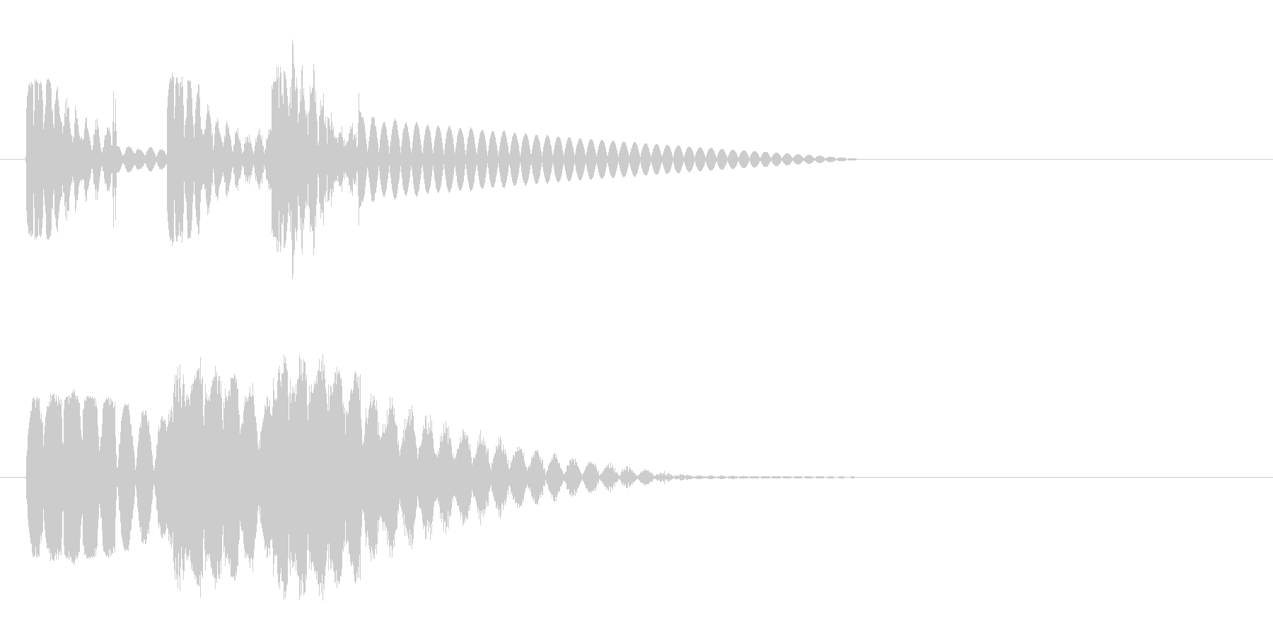 ビュビュビュン 射撃音2 ゲームなどの未再生の波形