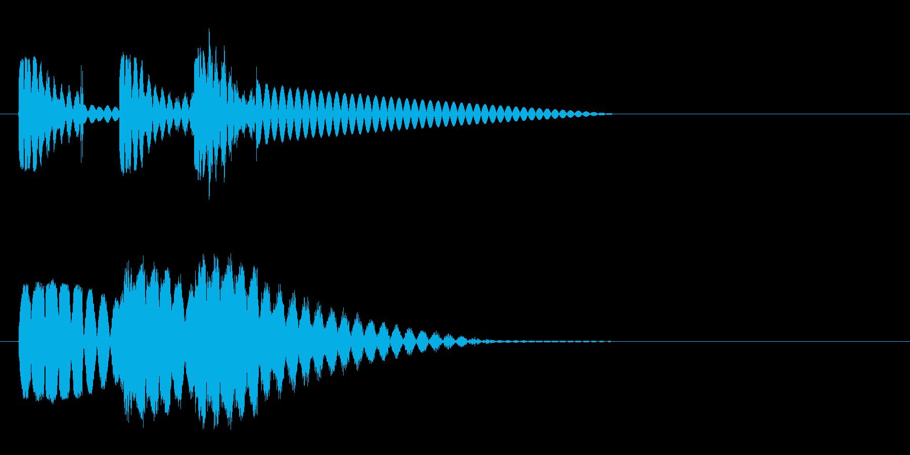 ビュビュビュン 射撃音2 ゲームなどの再生済みの波形