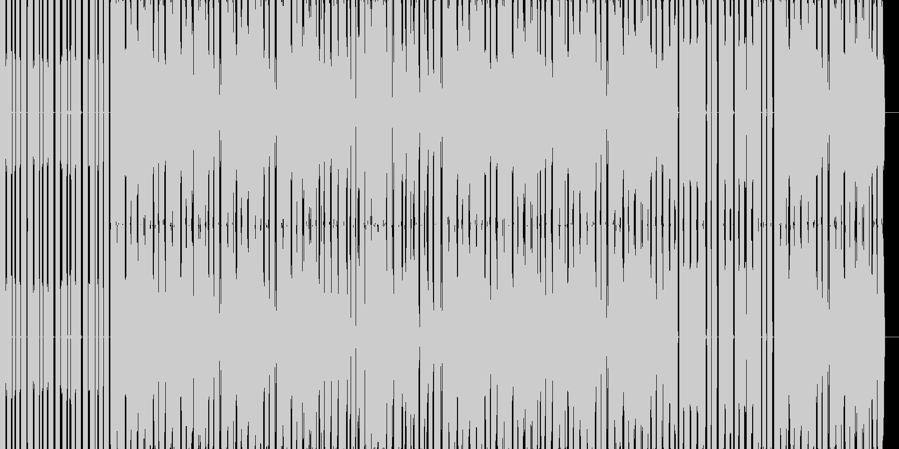 ほのぼのした雰囲気のチップチューンの未再生の波形