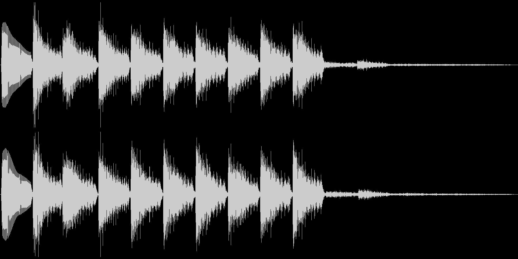 通知音・着信音風ジングル4(ループ)の未再生の波形