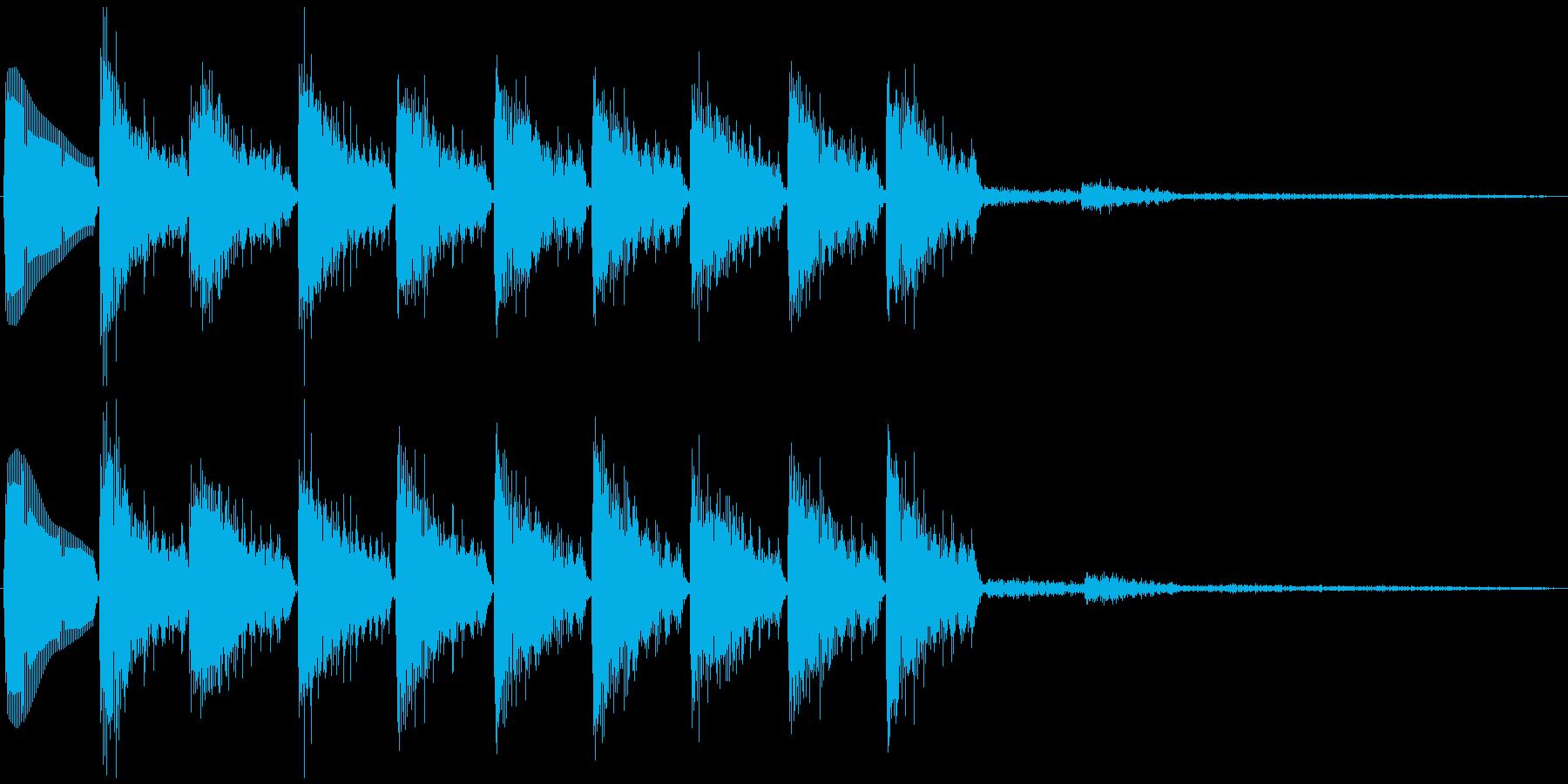 通知音・着信音風ジングル4(ループ)の再生済みの波形