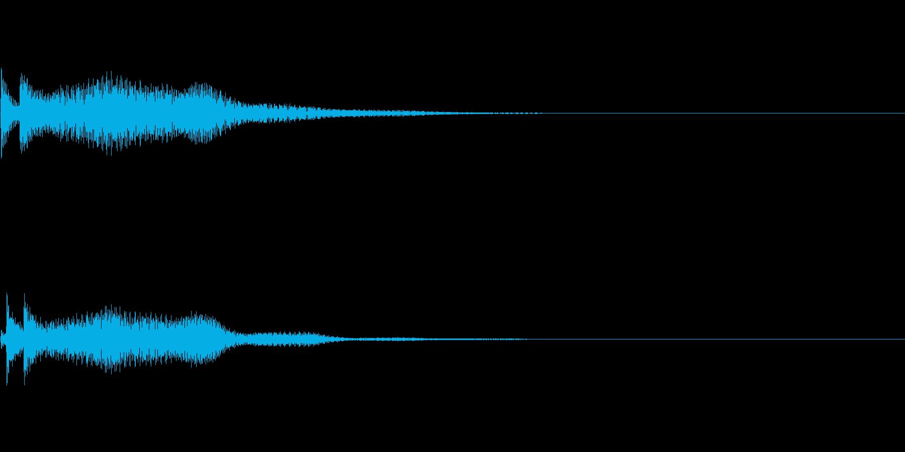 システム音09_シンセDPの再生済みの波形