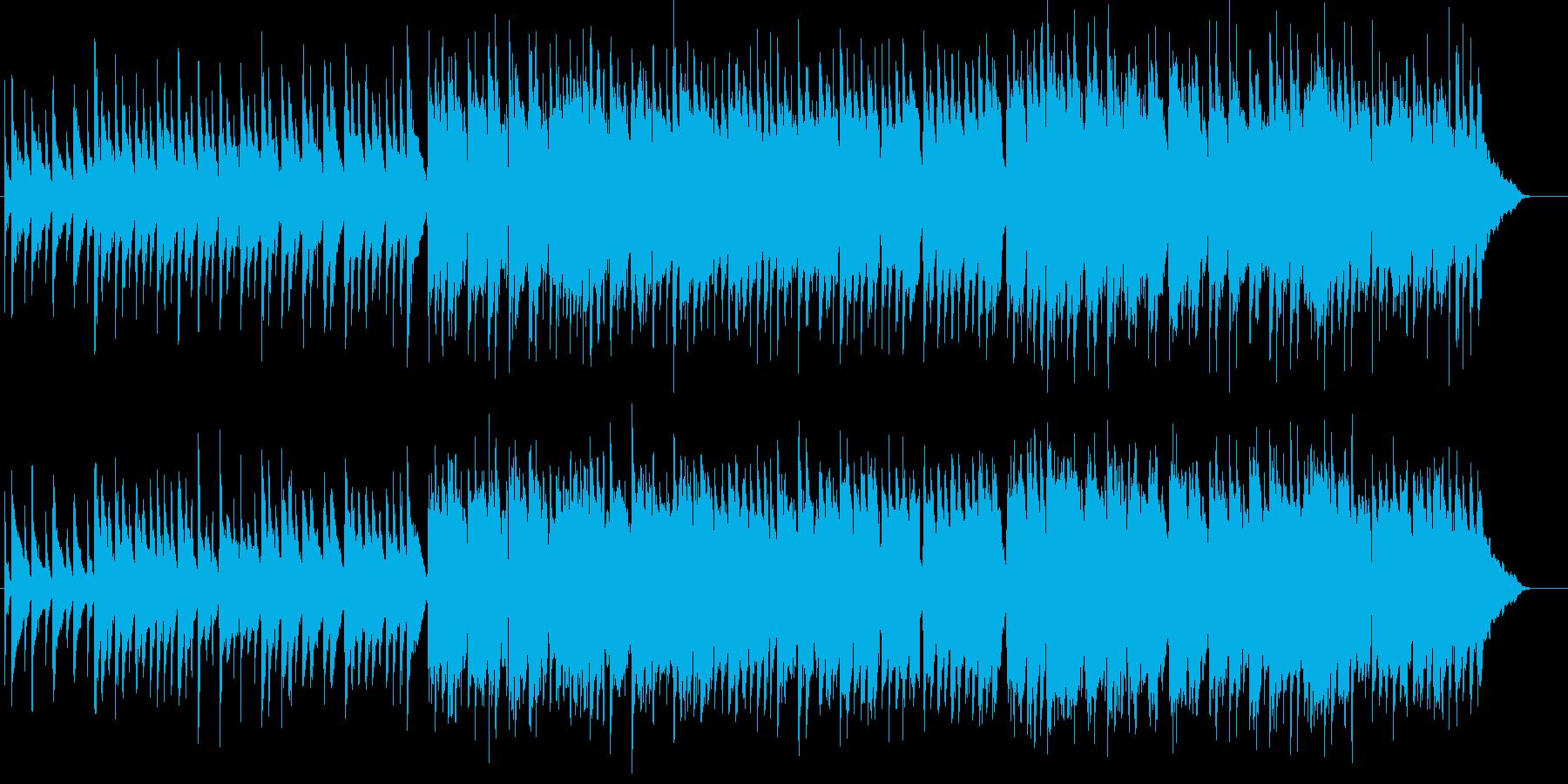 ゆったりのんびりした昼下がりのBGMの再生済みの波形