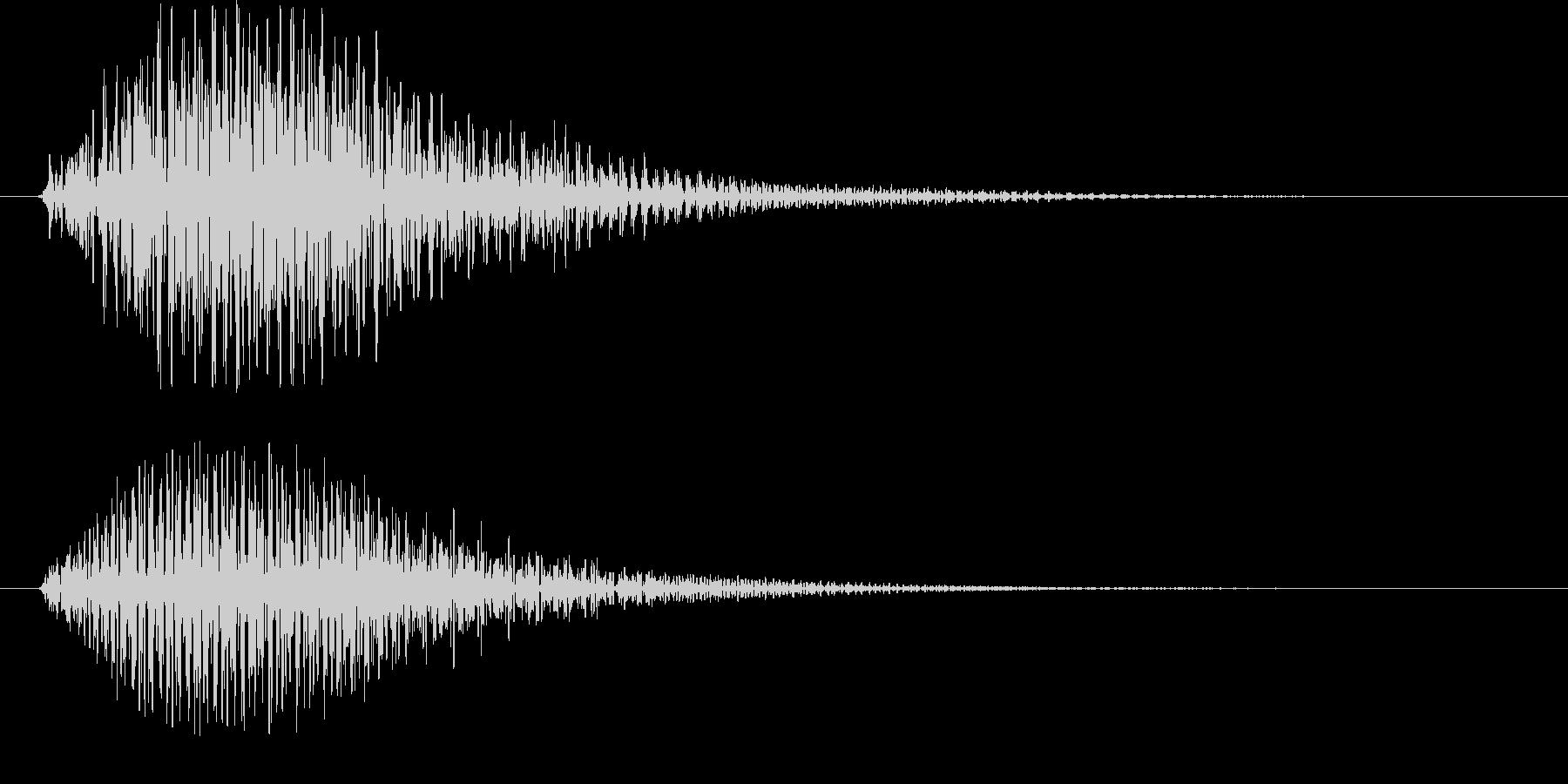 起動音やニュースなどに使えますの未再生の波形