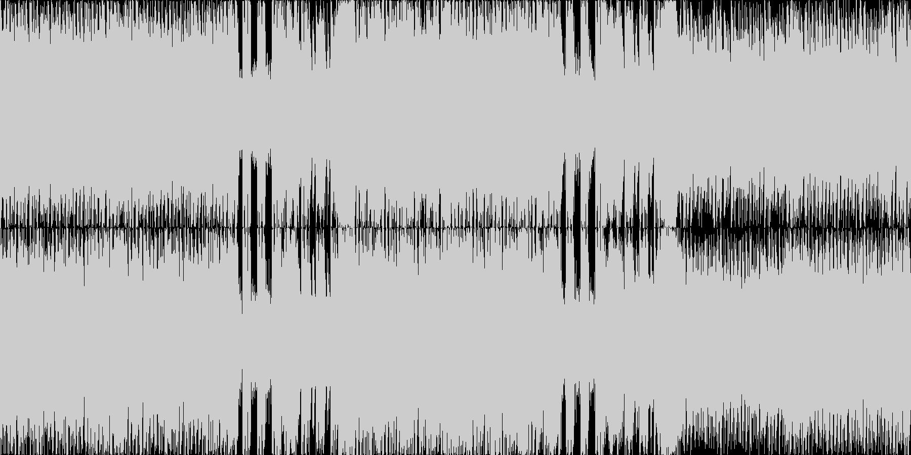 サイバー・ハードコア、癖になるループ素材の未再生の波形