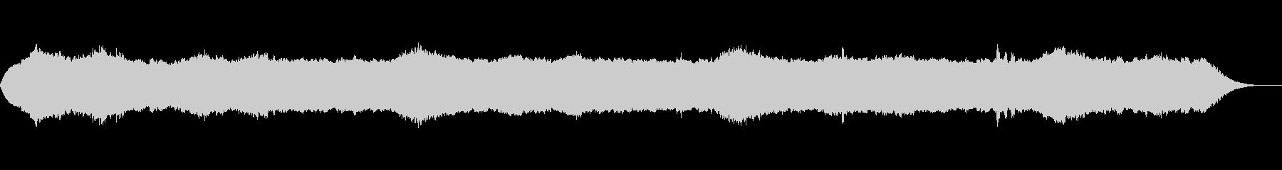 ホラー風BGMの未再生の波形