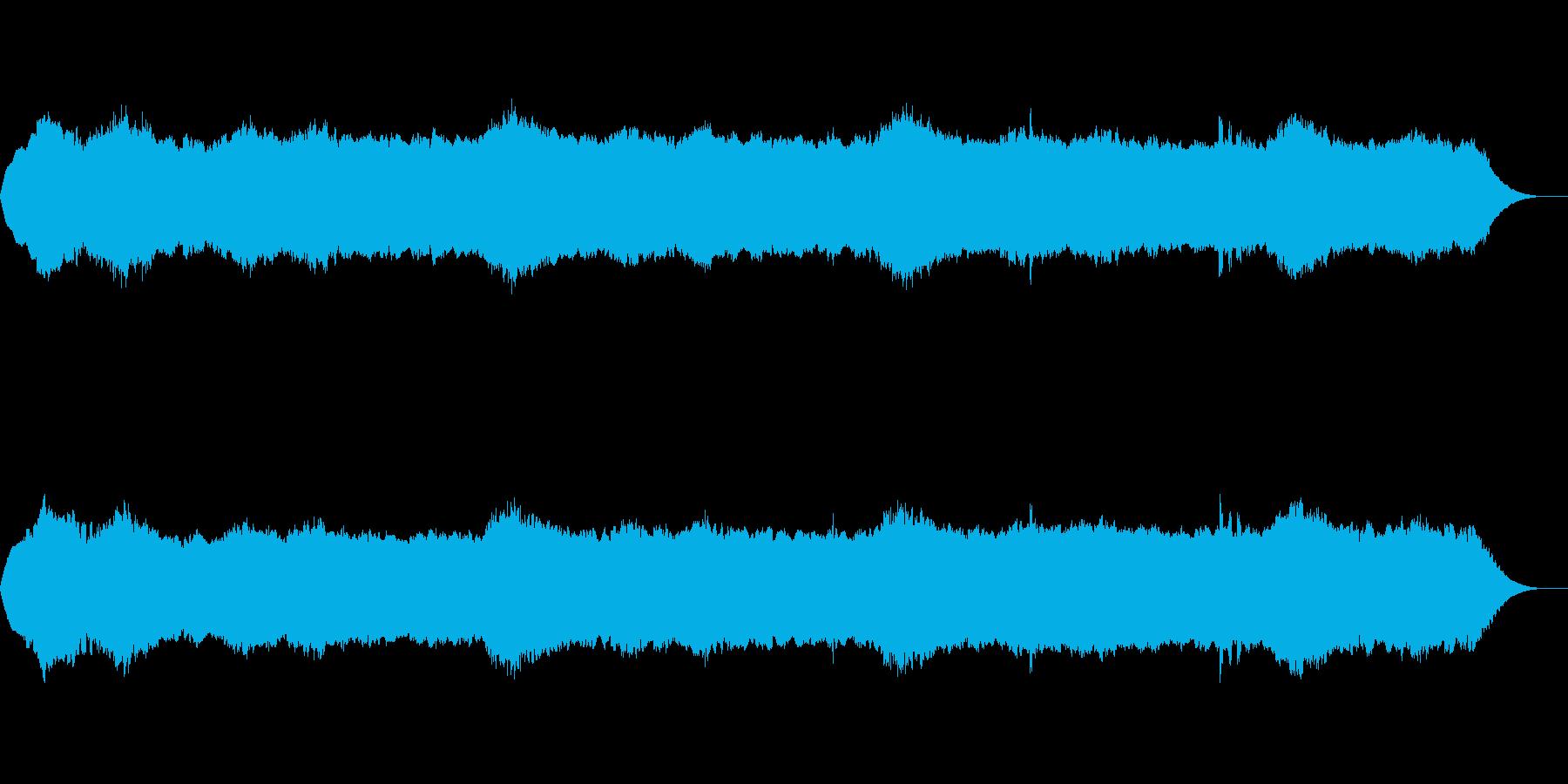 ホラー風BGMの再生済みの波形