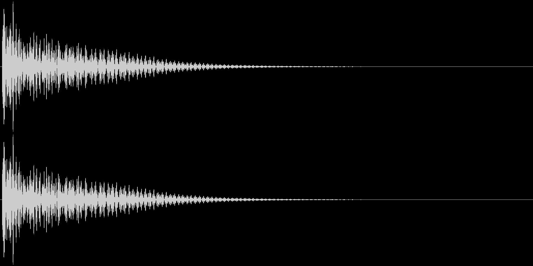 大太鼓 ドーーンの未再生の波形