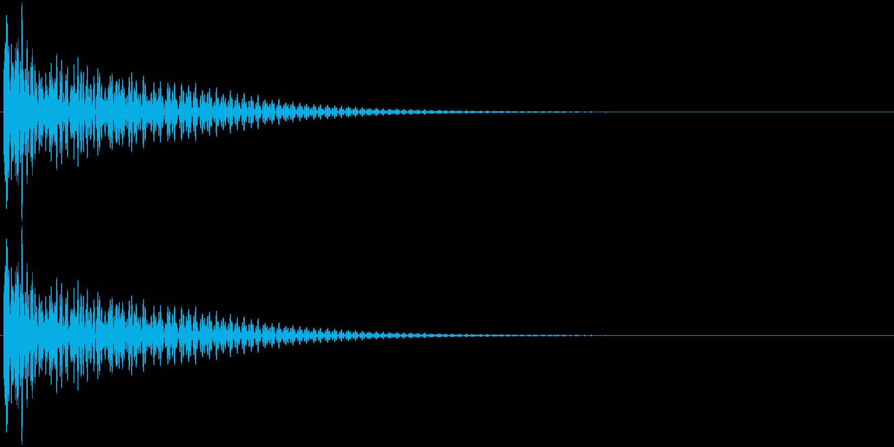 大太鼓 ドーーンの再生済みの波形