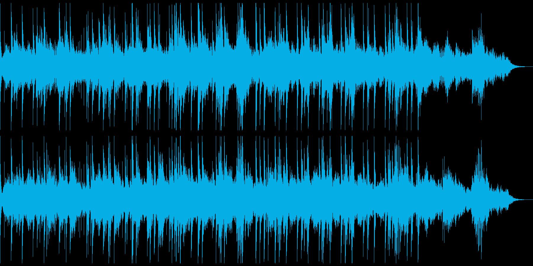 幻想的なリラクゼーションミュージックの再生済みの波形